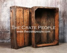 For storage (bathroom?) Vintage Wood Crates - The Raisin Sweat Box - Hundreds in Stock