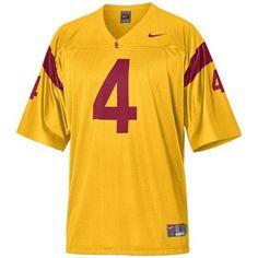 Nike USC Trojans #4 Gold Replica Football Jersey  #UltimateTailgate #Fanatics