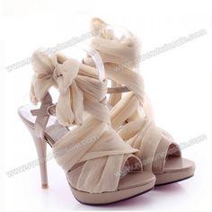 Summer Sandals With Silk and Stiletto Heel Design