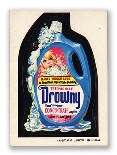 Topps Wacky Packages  3rd Series 1973 DROWNY FABRIC SOFTENER