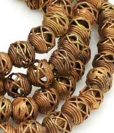African Lost Wax Brass 12mm Round (approx)