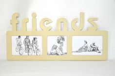 Photo Frame for children, friends, family. Picture Frame collage with 3 opening…