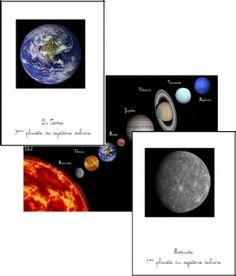Le systeme solaire (carte de nomenclature / imagier)