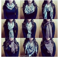 Scarf tying ideas that look nice.