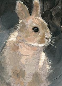 The Paintings of Jeff Ward: Bunny ACEO Acrylic Painting