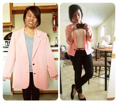 Bought this pink blazer from Goodwill and fixed it to fit with my seventh grade sewing skills! Yeah!