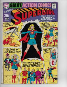 No 1  Aug 1964   80 Page Giant   Pinterest Action comics 373   vg f 5 0   superman   supergirl   80 page giant  g 57   1969