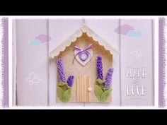 "Casetta ""Lavanda"" in feltro facile & senza cucire - YouTube"