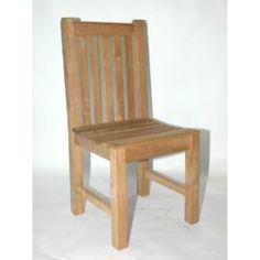 38 Natural Teak Outdoor Patio Block Island Chair, Brown, Patio Furniture