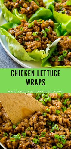 Chicken Lettuce Wraps - American Food Recipes
