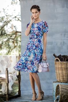 Lollie Dress | shabby apple | $92 | ruched sleeves, below the knee, fully lined, back zipper | 100% polyester chiffon