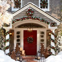My Christmas front door, c'mon in for some Christmas music & hot chocolate