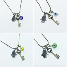 Colar Masculino Cordao Corrente Masculina Chave Olho Grego mens necklace style fashion cocar brasil