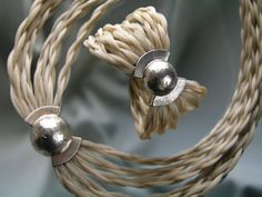 Eero Lintusaari, Millenium I & II Necklace and Bracelet, in silver and horse hair. #Finland