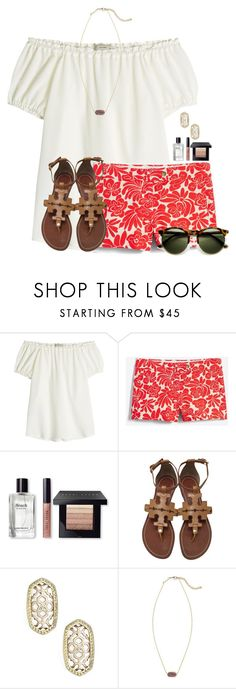 """""""QOTD: What 3 stores are your favorite to shop at?"""" by flroasburn ❤ liked on Polyvore featuring Etro, J.Crew, Bobbi Brown Cosmetics, Tory Burch and Kendra Scott"""