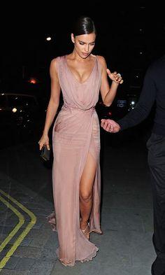 Irina Shark in Atelier Versace gown