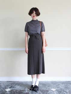 Ideas For Skirt Midi Black Preppy Outfits, Outfits For Teens, Cute Outfits, Skirt Fashion, Fashion Outfits, Womens Fashion, Daily Fashion, Fashion Beauty, Harajuku Fashion