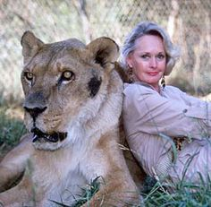 Tippi Hedren, with one of her cats on the reserve where she is now housing Michael Jackson's tigers.