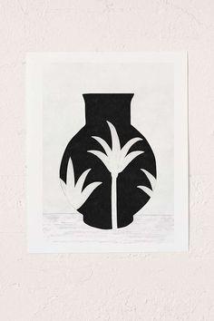 Slide View: 1: Samantha Totty Palm Pot Print