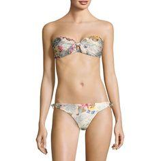 Zimmermann Two-Piece Floral Bikini Set ($255) ❤ liked on Polyvore featuring swimwear, bikinis, zimmermann swimwear, two piece bikini, two piece bikini swimwear, swim wear and two piece swim wear