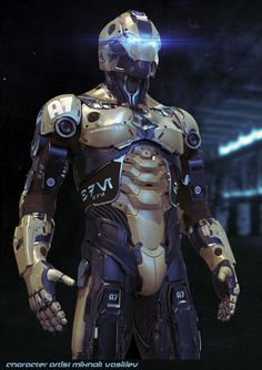 Steel Man   by Mikhail Vasilev   http://drawcrowd.com/mishmish1991   Sci-Fi Futuristic Mechanized suit