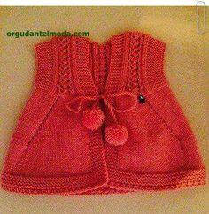 2017-en-yeni-sis-orgusu-bebek-yelekleri-27 Spool Knitting, Knitting For Kids, Baby Knitting Patterns, Crochet For Kids, Baby Patterns, Crochet World, Knit Crochet, Baby Coat, Baby Kind