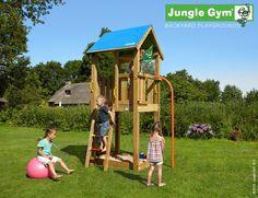 climbing frames for small gardens jungle castle firemans pole
