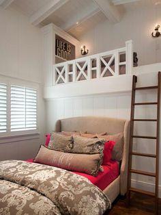 cool upper level in bedroom.