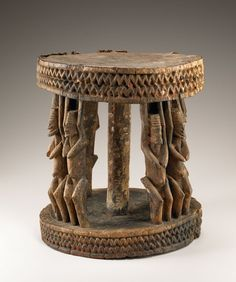 Stool, Dogon peoples, Mali.  Late 19th to early 20th century CE.  (National Museum of African Art, gift of Walt Disney World Co., a subsidiary of The Walt Disney Company, 2005-6-40.)