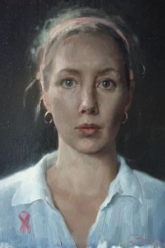 """Cornelia M Hernes. """"Hope"""" 25 This beautiful little work invites concern. Oil Portrait, Abstract Portrait, Female Portrait, Portrait Paintings, Woman Painting, Figure Painting, Painting & Drawing, Florence Academy Of Art, Toned Paper"""