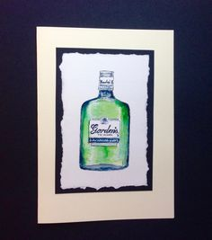 Gordon's Gin watercolour card from www.dianew.co.uk