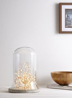 Holly Willoughby Wooden Cloche Table Lamp