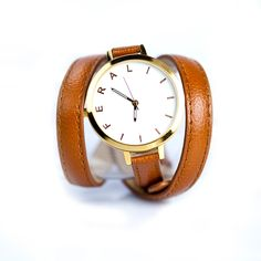 brown leather wrap watch from feral.