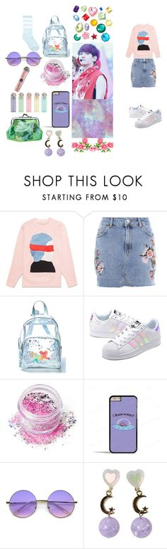 """""""baekhyun-exo"""" by chanbaek614 ❤ liked on Polyvore featuring Topshop, Current Mood, adidas Originals, In Your Dreams, Samsung and ZeroUV"""