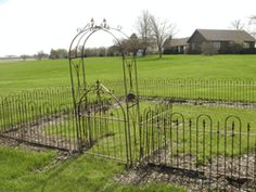 Soulard Wrought Iron Arbor Gate - Small 38 x 14 x 80  $500 for both