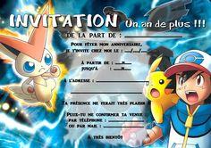 Carte Invitation Anniversaire Pokemon à Imprimer Gratuite | Invitation Anniversaire