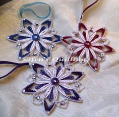 Quilled Snowflake Christmas Ornaments