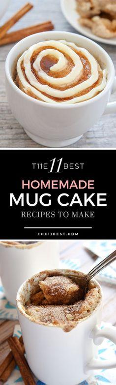 Mug cake recipes