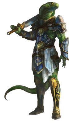 Male Serpentfolk Fighter - Pathfinder PFRPG DND D&D ed fantasy; Fantasy Races, Fantasy Warrior, Fantasy Rpg, Fantasy Character Design, Character Concept, Character Art, Fantasy Monster, Monster Art, Dnd Characters