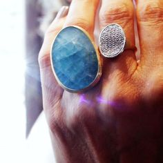 Delicious blue aquamarines from the Lunaria collection by Marco Bicego, that we were lucky enough to try on. See more: http://www.thejewelleryeditor.com/videos/fine-jewellery/going-for-gold-why-marco-bicego-jewellery-is-so-versatile/?action=play #jewelry #style