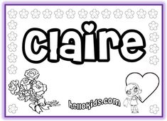 NAME COLORING PAGES~ Tons of first name coloring pages for both girls and boys. Print out your students' names, or let them color their name online! They actually had the spelling of my daughter's name which we never find! Beginning Of The School Year, New School Year, First Day Of School, Back To School, Name Coloring Pages, Coloring For Kids, Adult Coloring Pages, Coloring Sheets, Classroom Fun