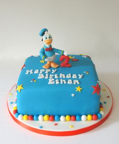 #donald #duck #cake Donald duck celebration cake from www.byjojo.co.uk