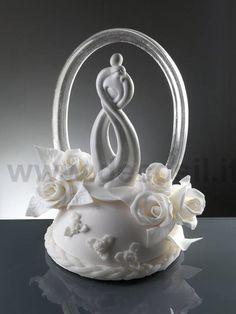 Sposi stilizzati in cioccolato per decorare torte di matrimonio. Realizzati con stampi in silicone decosil. www.decosil.it #weddingcake #newlyweds