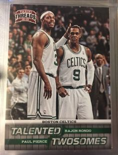 2012 Panini Threads Talented Twosomes Rondo/Pierce #4. Near Mint. Combined S&H.  | eBay