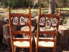 Reception chairs for the newly weds!