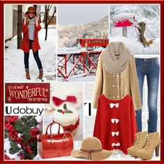 """""""Christmas with UDOBUY.COM"""" by saralemon ❤ liked on Polyvore"""