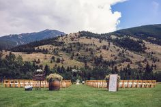 Ceremony Space for a Blush, Pink and Ivory Wedding in MT. Design & Decor: Better To Gather Events Montana Wedding, Lodge Wedding, Our Wedding Day, Red Wedding, Ivory Wedding, Wedding Decor, Living In Denver, Red Lodge, San Diego Living