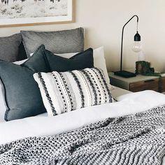 Bedroom interior, light master bedroom, dream bedroom, bedroom inspo, home Cozy Bedroom, Dream Bedroom, Home Decor Bedroom, Modern Bedroom, Bedroom Ideas, Bedroom Furniture, Contemporary Bedroom, Bedroom Classic, Blue Bedroom