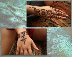 A couple of henna quickies at a convention.  Crimson Art Henna