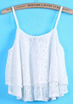 veste en laine à bretelles -blanc